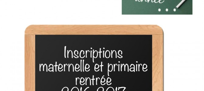 Inscriptions 2016/2017